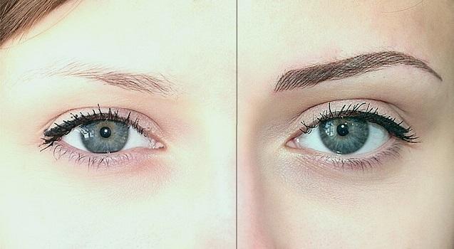окрашивание бровей хной, фото до и после